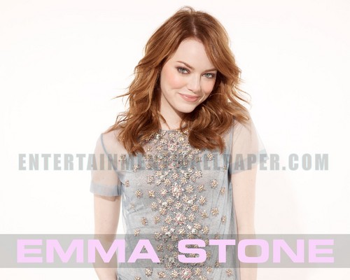 emma stone wallpaper possibly with a blouse, a shirtwaist, and an outerwear titled Emma Stone