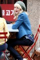 Emma Stone on the 'Spider-Man 2' Set - emma-stone photo