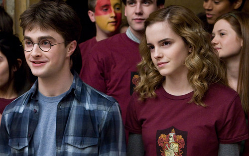 Emma Watson with Daniel Radcliffe