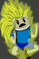 Finn Goes Super Saiyan 3 - adventure-time-with-finn-and-jake photo