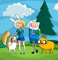 Fionna,Cake and Finn,Jake meet - adventure-time-with-finn-and-jake fan art