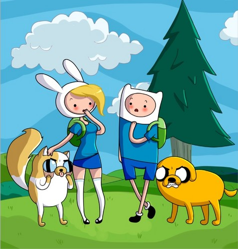 Fionna,Cake and Finn,Jake meet