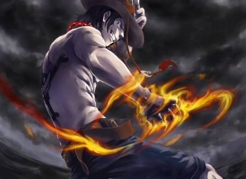 One Piece achtergrond probably with a brand entitled brand fist ace