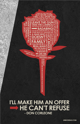 Godfather quote poster