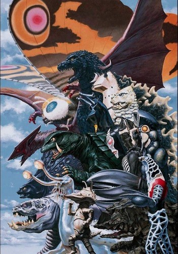 Godzilla wallpaper containing anime called Godzilla, Gamera and Other Kaiju