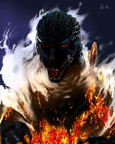 Godzilla wallpaper entitled Godzilla Painting