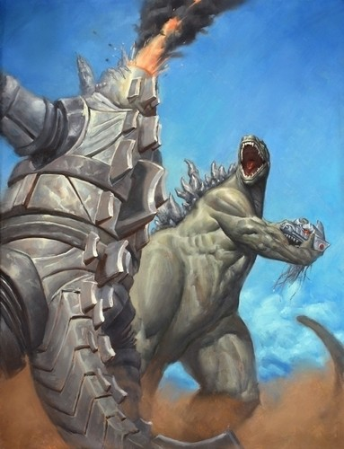 "Godzilla vs. Mechagodzilla - ""Godzilla Finish"" door Matt Smith"