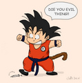 Goku Don't Like Needles - dragon-ball-z fan art