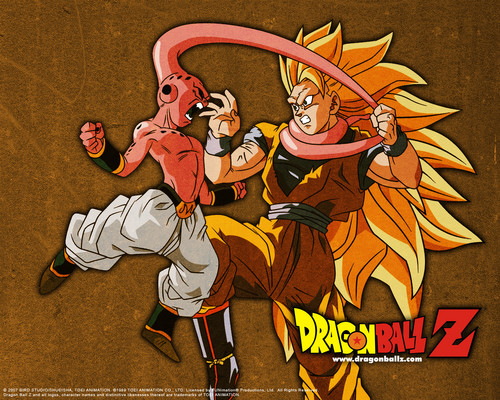 goku ssj3 vs kid buu
