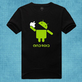 Google Android Eat apple spoof logo funny t shirt