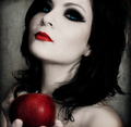 Goth Girl With An Apple - gothic photo