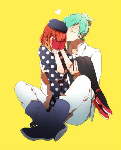 Uta no Prince-sama wallpaper possibly with anime titled Haruka x Mikaze Ai