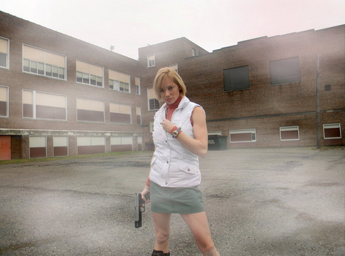 Silent Hill wallpaper probably containing bare legs, a business suit, and a well dressed person called Heather Mason