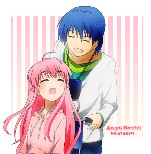 Yui And Hinata Angel Beats Hinata and Yui