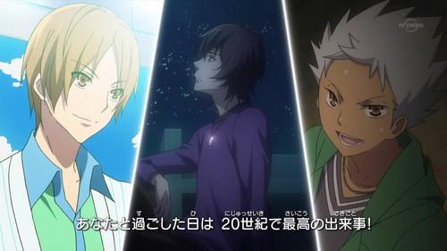Hiro (brown hair) Kouji (black hair) Kazuki (white hair)