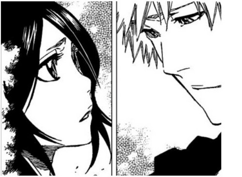 How Ichigo and Rukia look at each other