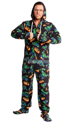HulkmFootie Pajamas for Sale!! Adult Size