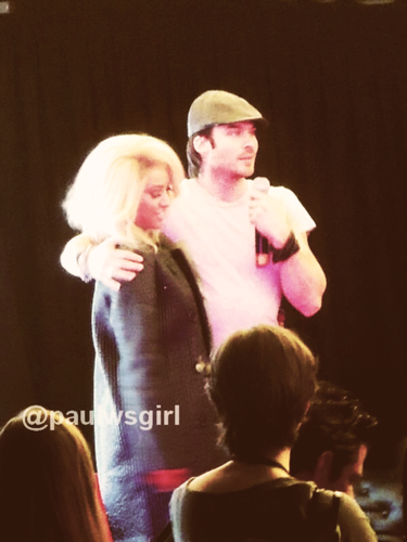 Ian crashing in Kat's panel at the convention in Paris