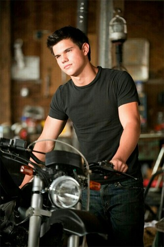 Romantic Male Characters wallpaper probably with a motorcycle cop titled Jacob Black/Taylor Lautner
