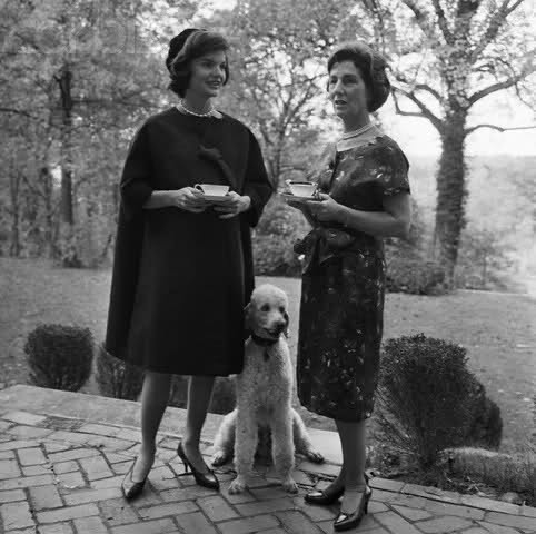 Jacqueline Kennedy with her mother, Janet Lee Auchincloss