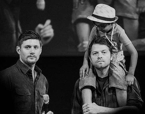 Jensen, Misha and a Young fan