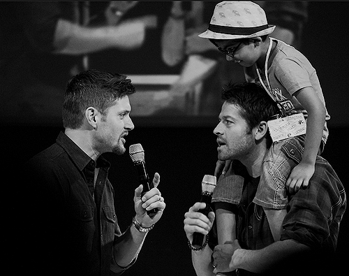 Jensen, Misha and a Young ファン