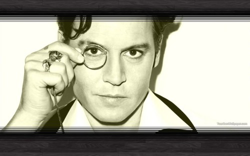 Johnny Depp wallpaper containing a television receiver called Johnny <3