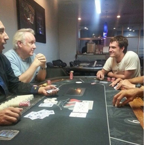 Josh playing poker in Panama