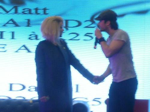 Kat and Ian at the convention in Paris