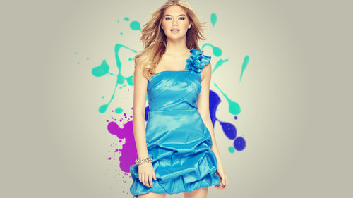 kate upton wallpaper possibly with a coquetel dress titled Kate Upton