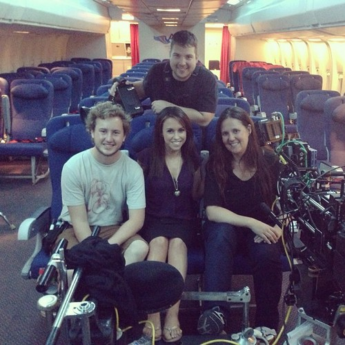 Lacey on Set of Non-Stop