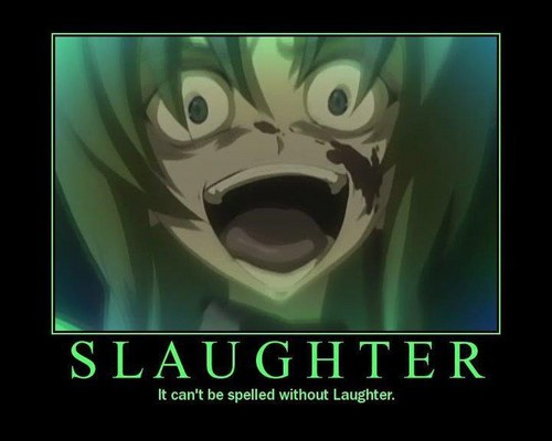 Lauging in Higurashi.