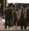 "Lily and Sam Claflin filming ""Love, Rosie"" in Toronto, Canada (May 14th 2013) - lily-collins photo"