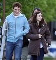 "Lily and Sam Claflin filming ""Love, Rosie"" in Toronto, Canada (May 16th 2013) - lily-collins photo"