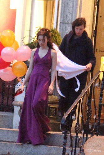 """Lily filming """"Love, Rosie"""" in Dublin, Ireland (22nd May 2013)"""
