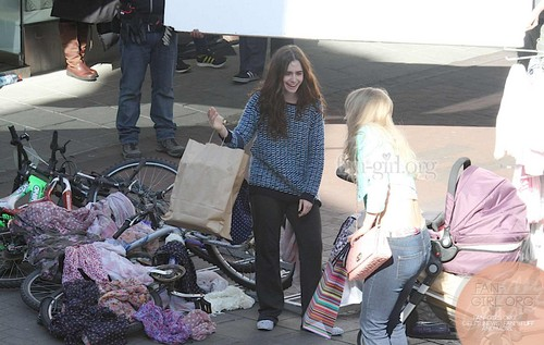 """Lily filming """"Love, Rosie"""" in Dublin, Ireland (27th May 2013)Lily filming """"Love, Rosie"""" in Dublin, I"""