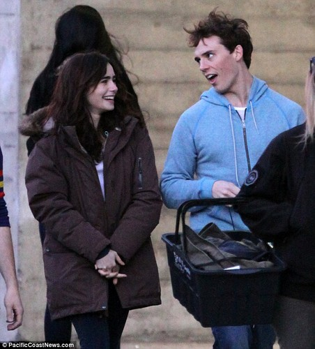 Lily filming Love, Rosie.