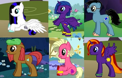 Liza, Silvy, Ryker, Kadri, Valerie and Chloe as Ponies