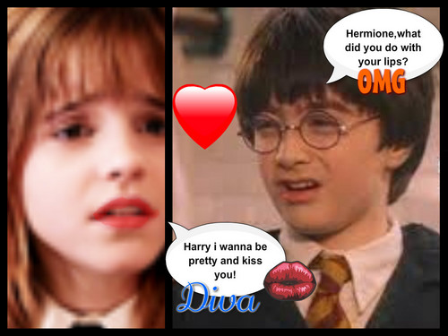 Harry Potter Fans wallpaper probably containing a venn diagram and a portrait titled Love hurts!