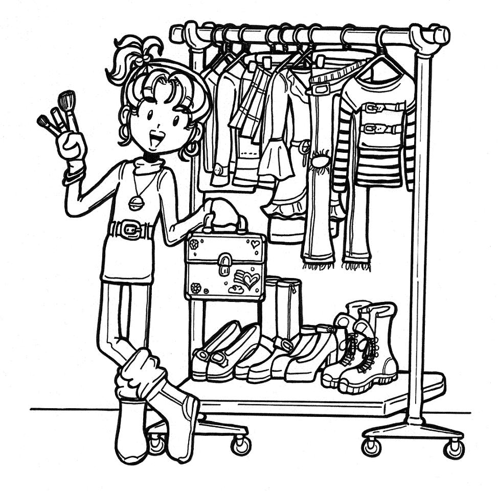 Nikki dork diaries free colouring pages for Dork diaries coloring pages online