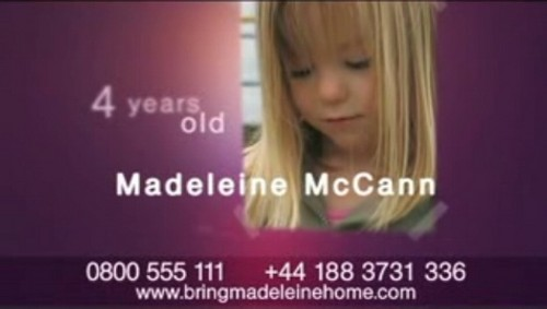 Madeleine McCann, a British girl, disappeared on the evening of Thursday, 3 May 2007