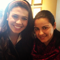 Maite with fan at Starbucks (May 11) - maite-perroni-beorlegui photo