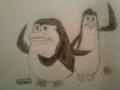 Manfredi and Johnson - penguins-of-madagascar fan art
