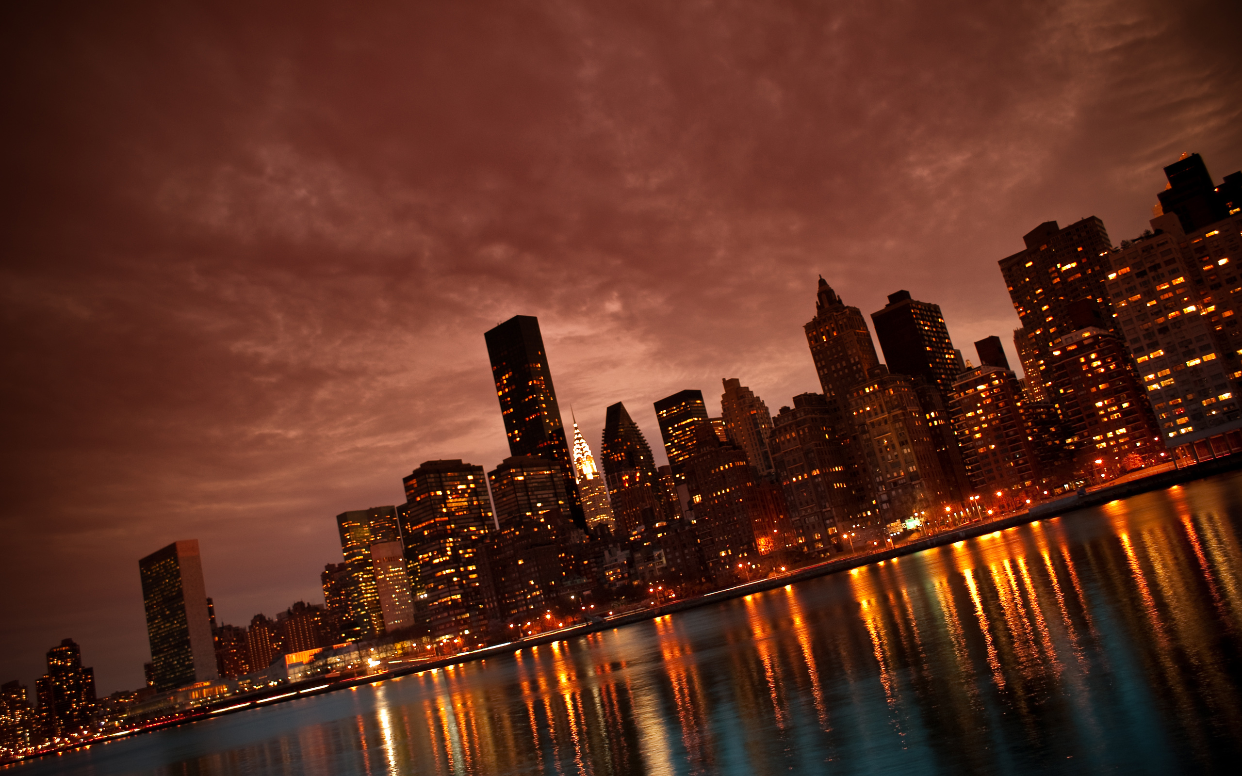 NYC Amazing Images Manhattan Reflections HD Wallpaper And Background Photos