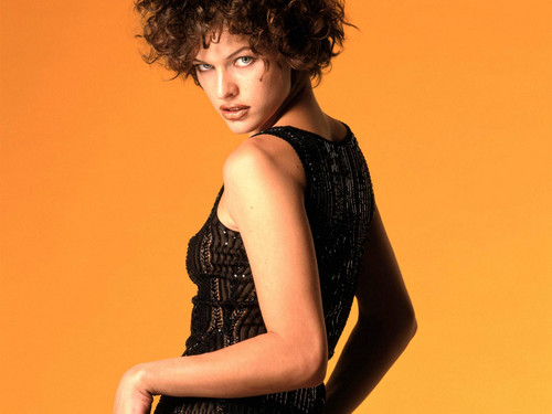 milla jovovich wallpaper possibly with a koktil, koktail dress called Milla Jovovich