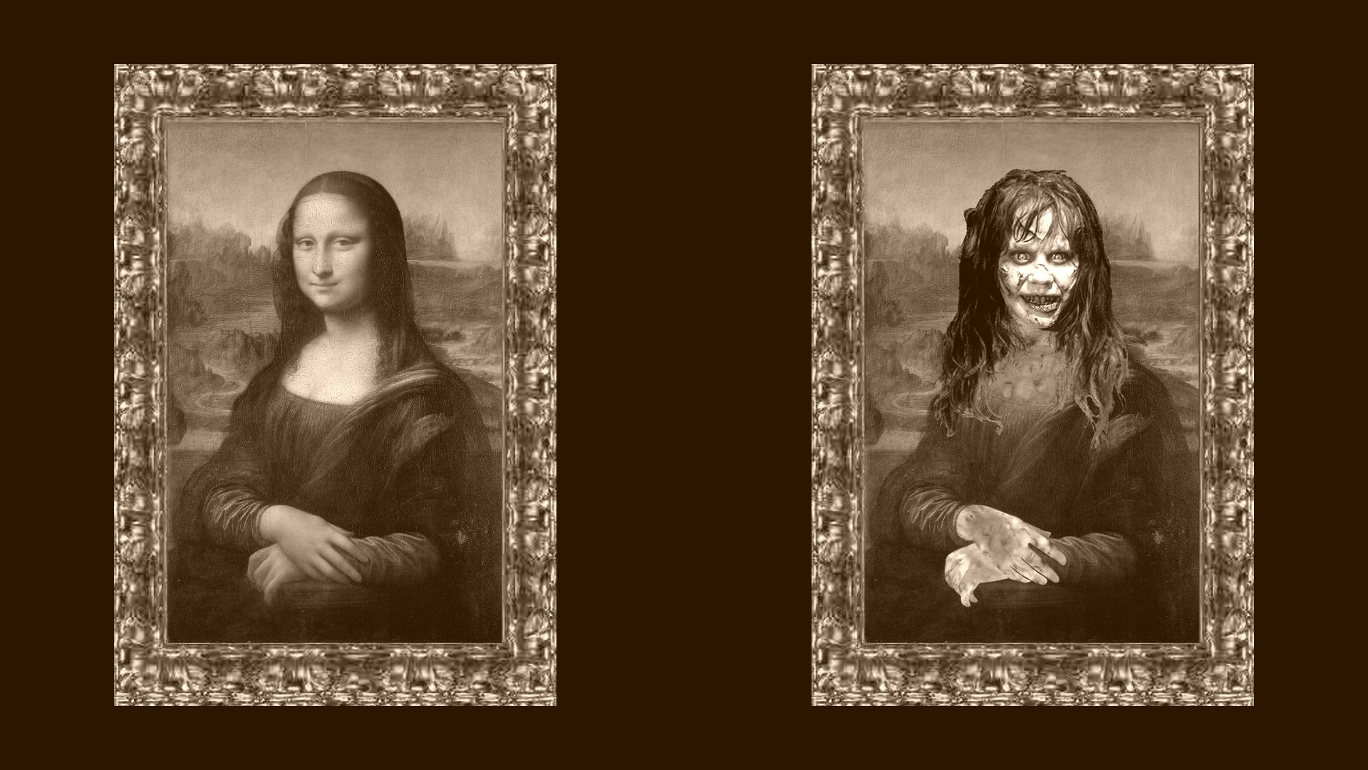 Mona Lisa Wallpaper Full Hd The Exorcist Wallpaper