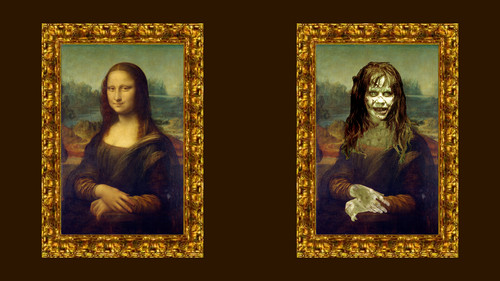 The Exorcist Обои probably containing a stained glass window entitled Mona Lisa Обои full hd