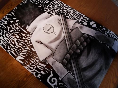 My Sasuke drawing :)