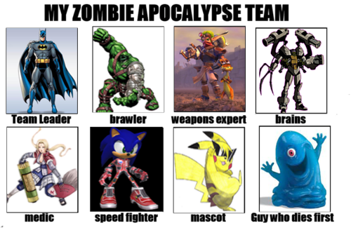 Zombies kertas dinding called My Zombie Apocalypse Team
