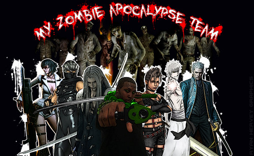 Zombies kertas dinding probably with Anime called My Zombie Apocalypse Team